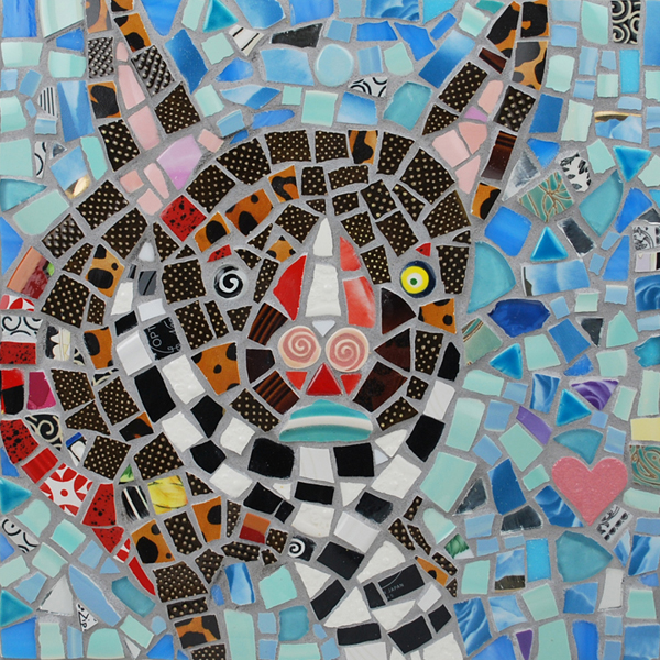 A Mosaic Portrait of my Dog Fin