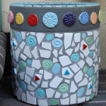 A Mosaic Container, by Dora Aldworth Grinnell